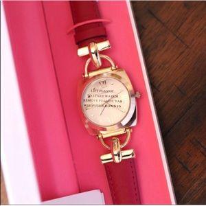Pink Leather Isaac Mizrahi Watch